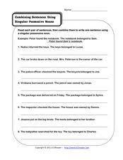 singular possessive nouns lesson plans u0026 worksheets
