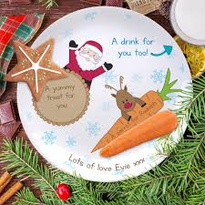 treats for santa plate personalised christmas eve gift u2013 shane