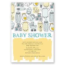 the necessities baby shower invitation invitations by dawn