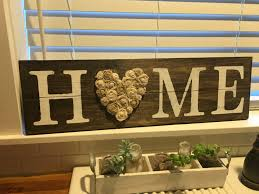 Country Chic Home Decor Home Sign Rustic Wall Decor Love Sign Shabby Chic Home