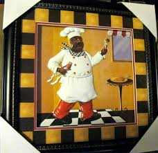 Kitchen Fat Chef Decor African American Fat Chef Home Decor Kitchen Wall Art Kitchen