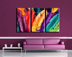 feather painting walls promotion shop for promotional feather 3pcs modern wall art canvas print colorful feather painting frameless wall decor painting living room wall art canvas home decor