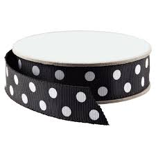 black and white polka dot ribbon black white polka dot grosgrain ribbon the container store