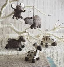 roost wooly ornaments are just precious fa la la la la