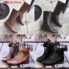 womens combat boots uk s boots in checked pattern ebay