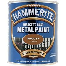 hammerite direct rust metal paint 250ml smooth copper