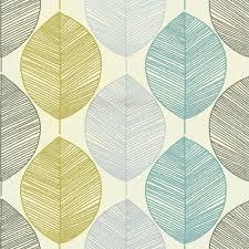 arthouse 408203 retro leaf wallpaper silver orange amazon co uk
