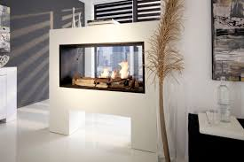 architecture awesome double sided fireplace insert design concept