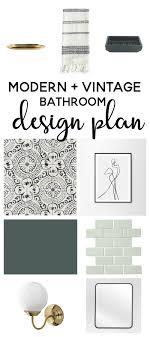 master bathroom design plans modern vintage master bathroom design plan