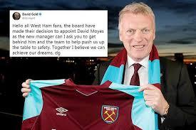 David Moyes Memes - david gold makes desperate plea to west ham fans to get behind david
