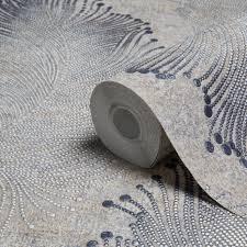 a s creation bohemian burlesque beige u0026 grey feather print