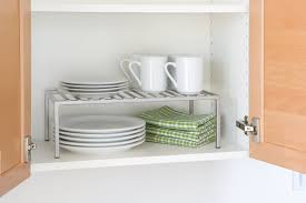 kitchen cabinet stacking shelf live simply by annie