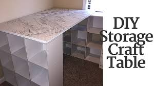 Diy Craft Desk With Storage Diy Craft Table With Storage
