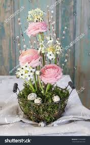 florist work how make simple easter stock photo 717576808