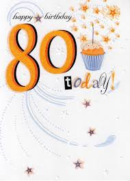 80 today happy 80th birthday card cards kates