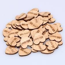 where to buy wedding supplies aliexpress buy 50 pcs lot rustic wood heart diy