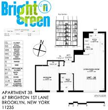 New York Apartments Floor Plans Bright N Green Apartment 3b U2022 Floor Plan