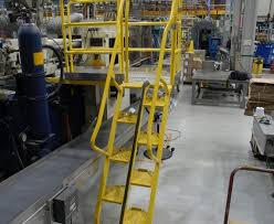 carbon steel yellow alternating tread stairs motion savers inc