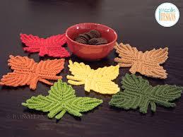 amigurumi leaf pattern canadian maple leaf coaster or applique pdf crochet pattern