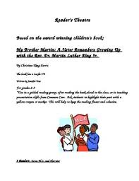 dr martin luther king jr reader s theatre by diane tpt