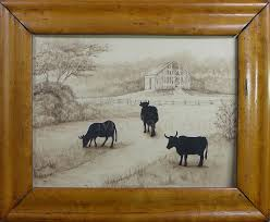 silhouettes beautiful group of antique silhouette of cattle by