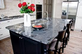 granite islands kitchen best cosmic black granite countertops for the home pinterest