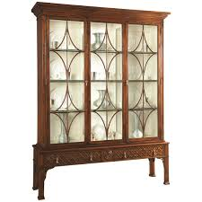 hickory white display china 790 42 china display and wood glass
