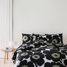 Black Duvet Cover King Size Marimekko Unikko Duvet Cover King Size Black Bedcovers And