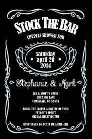 stock the bar invitations stock the bar wedding shower invitation bottle any colors