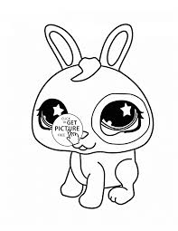 littlest pet shop cute bunny coloring page for kids animal