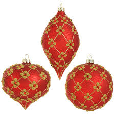 raz garnet and gold glass ornaments