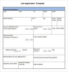 simple printable job application template job application template 19 exles in pdf word free