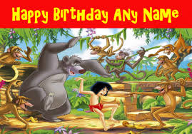 Jungle Birthday Card The Jungle Book Birthday Card