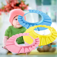 baby kids shower wash hair shield hat bath shower cap protect baby