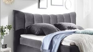 Schlafzimmer In Grau Seward Schlafzimmer Bett In Grau Mit Topper 180x200