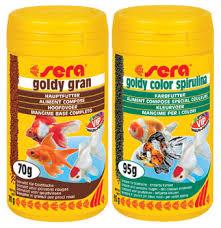 pesci alimentazione sera news sera goldy gran e sera goldy color spirulina il menu