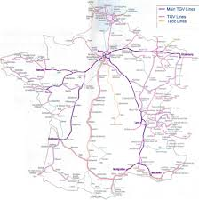 F Train Map This Tgv Map Shows The Main Tgv Destinations In France New Zone