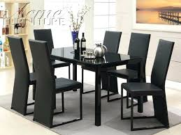 black dining room table set black dining table set modern glass 7 dining table set black