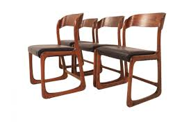 mid century french dining room chairs by baumann set of 4 for