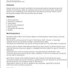 Security Guard Resume Objective Download Security Guard Resume Haadyaooverbayresort Com