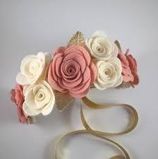 felt flower headband felt flower crown felt flower headband felt by uponastarbowtique