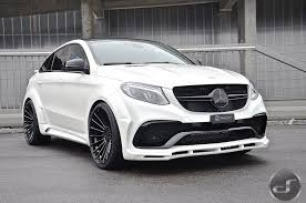 mercedes white white mercedes gle coupe with hamann body kit has a wing