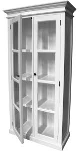 Mahogany Display Cabinets With Glass Doors by Stockholm White Painted Mahogany Furniture Glazed Glass 2 Doors