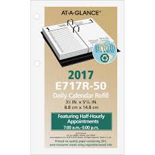 Desk Daily Calendar At A Glance E717r 50 At A Glance Recycled Loose Leaf Desk