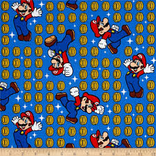 nintendo super mario coin toss blue discount designer fabric