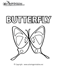 vocabulary butterfly coloring page a free educational coloring
