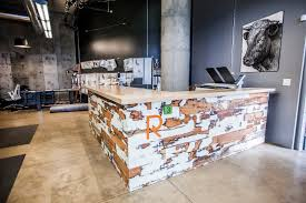 Large Reception Desk Reclaimed Wood Reception Desk Because We Can