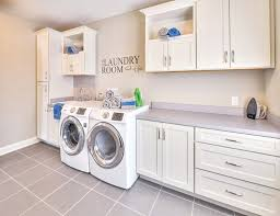 White Laundry Room Cabinets Laundry Room Cabinets In Ohio New Construction