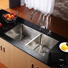 Granite Undermount Kitchen Sinks by Sinks Black Granite Countertop Kraus Stainless Steel 21 X 16 75