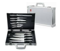 icel absolute steel chefs attache case 11 pieces mimocook